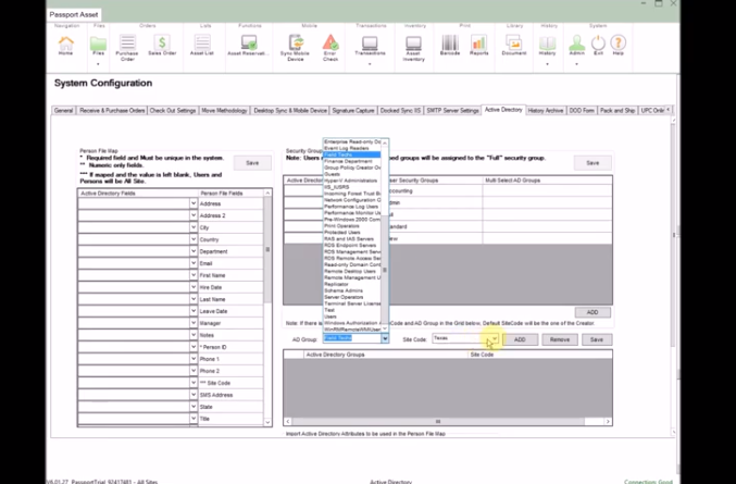 Inventory System and Asset Tracking Multi Site v083